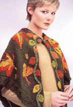 Autumn Leaves Shawl Pattern Pattern