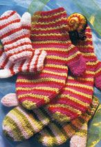 Stripy Mittens Pattern
