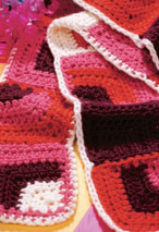 Crocheted Retro Scarf Pattern Pattern