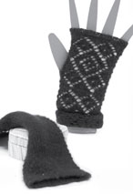 Double Diamond Fingerless Gloves Pattern Pattern
