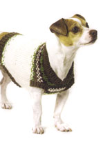 Feral Fair Isles Dog Coat Pattern Pattern