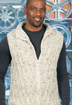 Zip-It Cabled Crocheted Vest Pattern Pattern