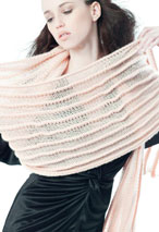 Sideways Folded Scarf Pattern