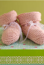 Be-Ribboned Booties Pattern Pattern