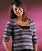 Autumn Rose Pullover Pattern - Mineral