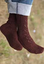 Lace & Cable Socks Pattern Pattern