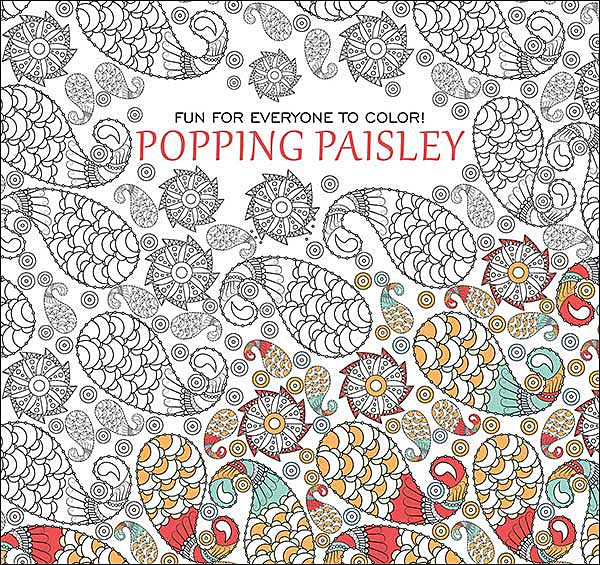 Popping Paisley Coloring Book