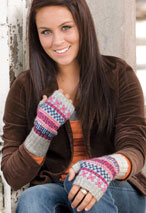 Finishing Touches Fingerless Gloves Pattern