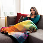 Hue Shift Afghan Kit - Rainbow