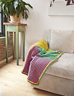 Four Square Blanket & Hat Kit - Bright