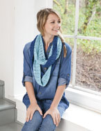 Double Twist Cowl Kit - Blue