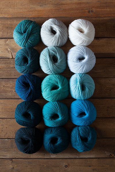 Aegean Sea Yarn Sampler