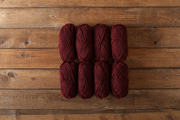 Swish Worsted Garnet Heather Sampler