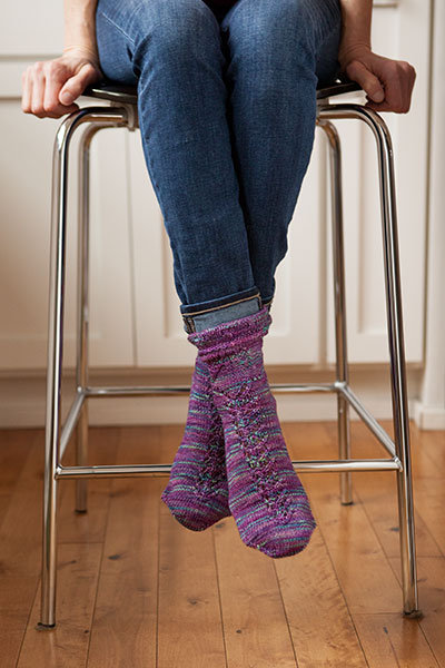 Butterfly Garden Socks Pattern