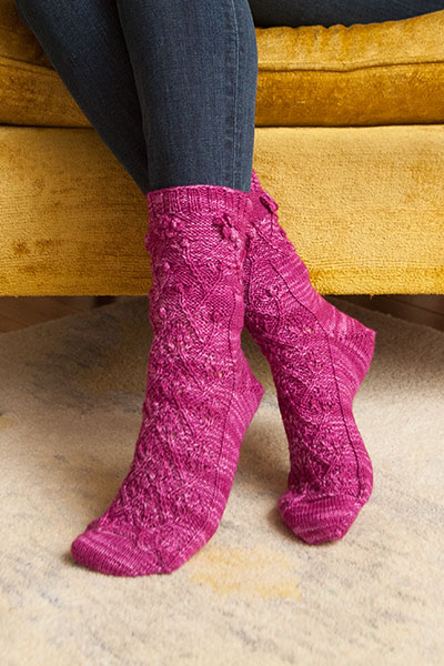 Rose of Sharon Socks Pattern