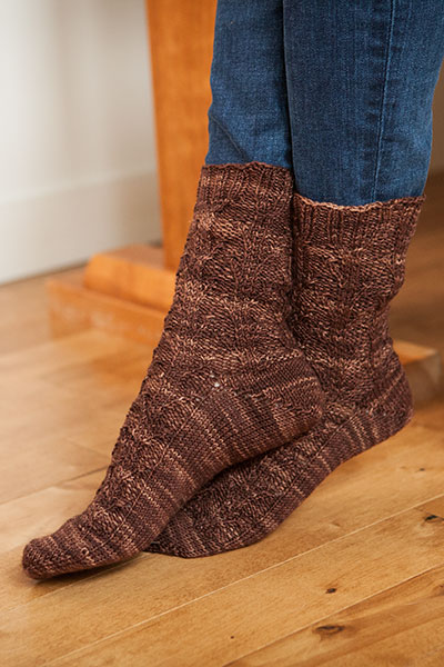 Bare Bark Sock Pattern Pattern