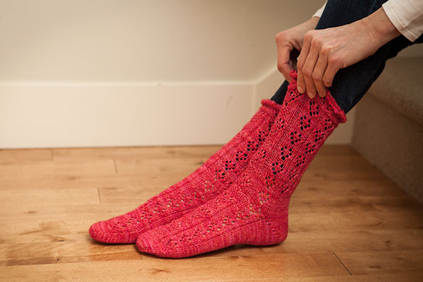 Hearts Abound Socks Pattern Pattern