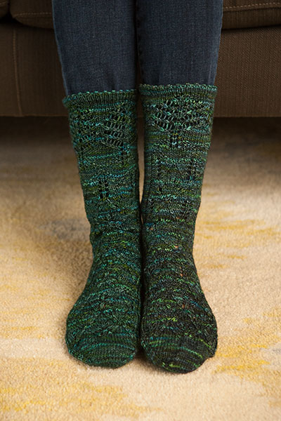 Evergreen Socks Knitting Patterns And Crochet Patterns From
