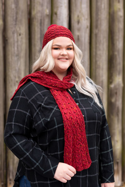 Brigit Hat & Scarf - Learn to Knit Pattern Pattern