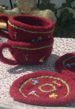 Knitted/Felted Teacup & Saucer  Pattern