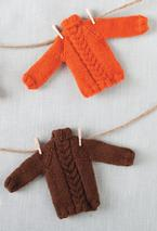 Tiny Holiday Sweater Ornament Pattern Pattern