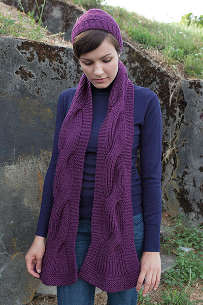 Chunky Cabled Hat & Scarf Pattern