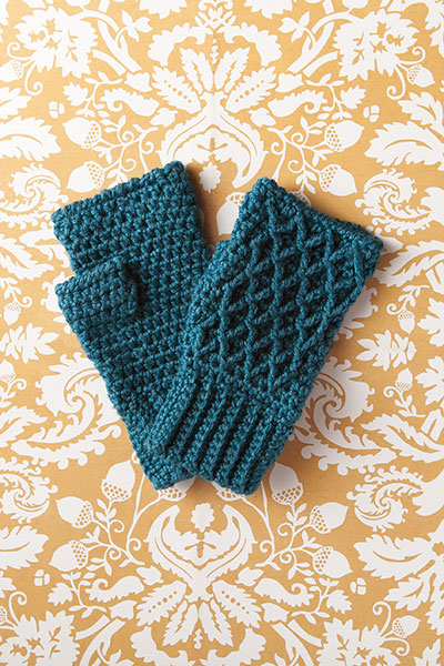 Lattice Work Fingerless Mitts Pattern Pattern
