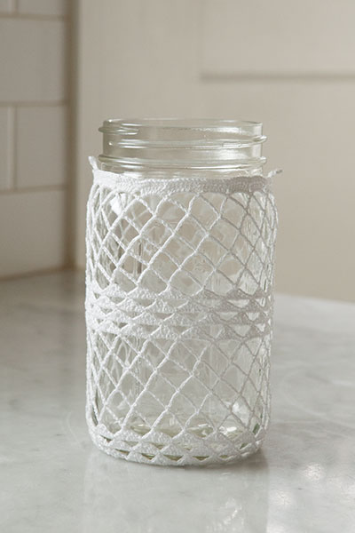 Crocheted Ball Jar Cozies Pattern