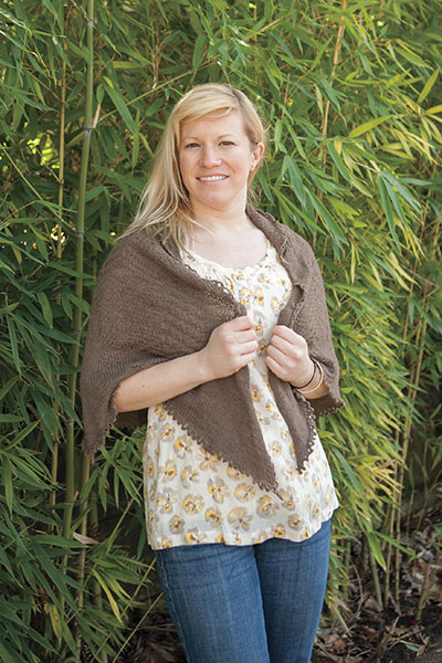Textured Semi-Circle Shawl Pattern