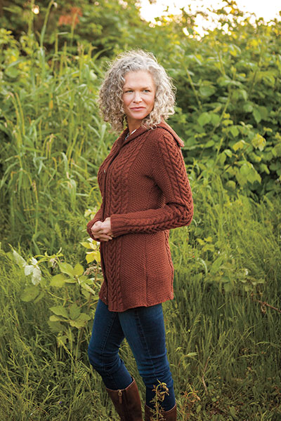 Oslavia Sweater Coat Pattern Pattern