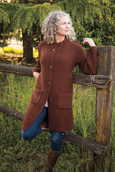 Moss Stitch Coat Pattern Pattern