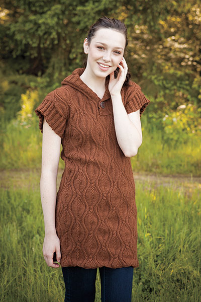 Falling Leaves Sweater Dress Pattern Pattern