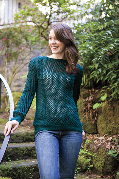 Cable Mesh Pullover Pattern