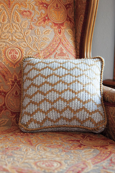 Diamond Links Pillow Pattern