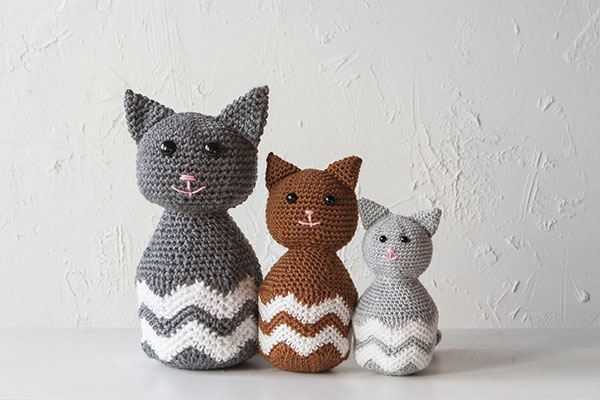Oliver the Chevron Kitty Pattern