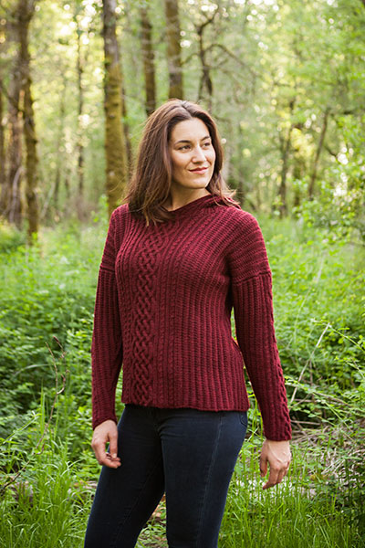Caroline Cabled Hoodie Pullover Pattern