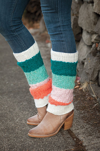 Around the Block Legwarmers Pattern