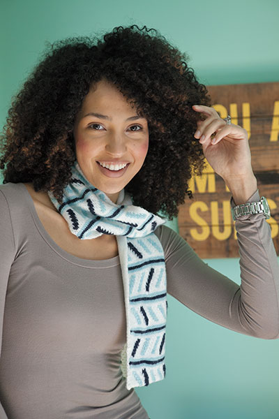 Ride the Rails Scarf Pattern