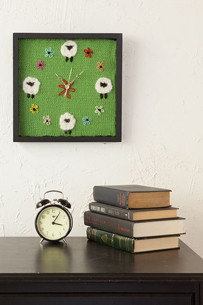 Counting Sheep Clock Pattern