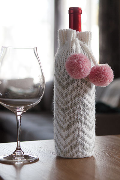 Chevron Wine Bottle Cozy Pattern