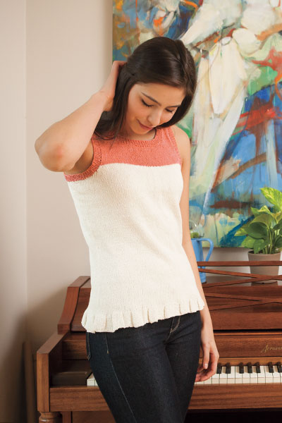 Hint of Pleat Tank Pattern