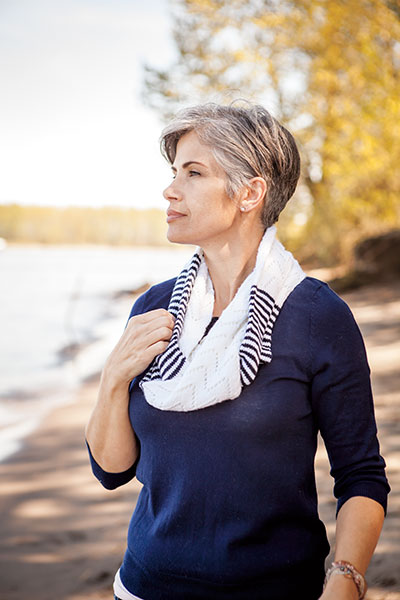 Waves and Stripes Infinity Scarf Pattern
