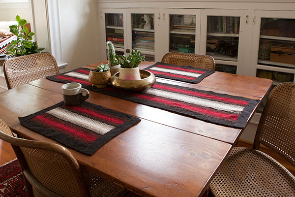 Shadow Weave Placemat and Table Runner Pattern