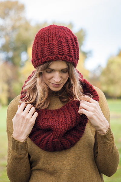 Peak Hat and Cowl Pattern