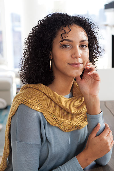Meandering Lace Shawlette Pattern