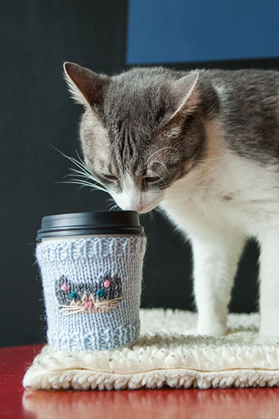 Cat-puccino Cup Cozies Pattern