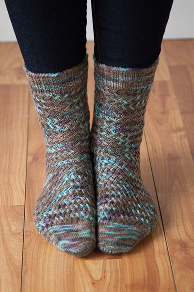 Basketwork Socks Pattern