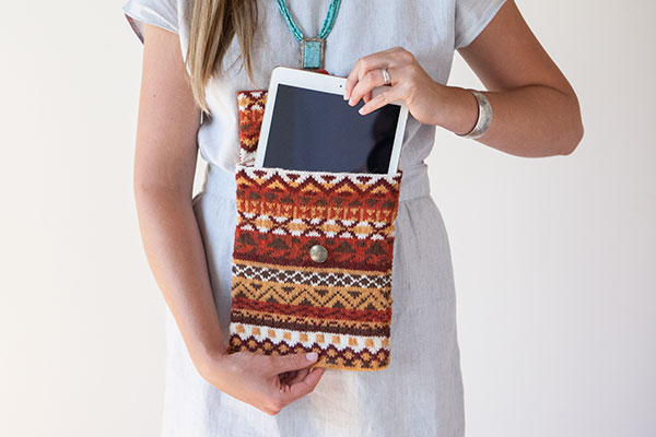 Fireside Tablet Cover Pattern