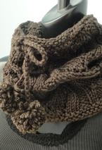 Drawstring Lace Cowl Pattern