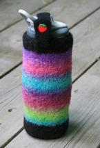 Summer Stripes Felted Water Bottle Holder Pattern